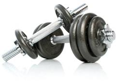 pesas de ejercicio